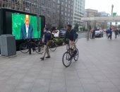 صور الرئيس تجوب شوارع واشنطن ..والجالية المصرية فى انتظار زيارته