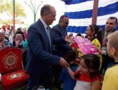 صور.. مدير أمن الوادى الجديد يشهد احتفالية يوم اليتيم بنادى الشرطة فى الخارجة