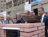 صور.. وزير الزراعة ومحافظ سوهاج يضعان حجر الأساس لمعمل صحة الحيوان