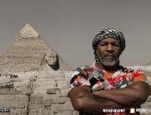 """""""اليوم السابع"""" ينشر جلسة تصوير النجم العالمى مايك تايسون أمام الأهرامات"""
