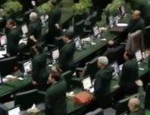 ردا على ترامب.. أعضاء البرلمان الإيرانى يرتدون زى الحرس الثورى.. فيديو