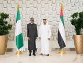 محمد بن زايد يستقبل رئيس نيجيريا لتعزيز علاقات الصداقة والتعاون بين البلدين