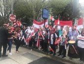 """الجالية المصرية تحتشد فى واشنطن وتهتف: """" الشعب يريد إعدام الإخوان"""""""