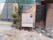 شكوى من وجود كشك كهرباء أمام باب منزل بهضبة الأهرام