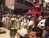 محافظ الشرقية يتقدم جنازة الشهيد الرائد ماجد صبرى بقرية الطويلة