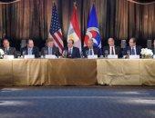 الرئيس السيسي يحضر مأدبة عشاء لغرفة التجارة الأمريكية (فيديو)