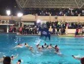فيديو.. أحداث مؤسفة واشتباكات بين الأهلى والجزيرة لكرة الماء