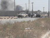 انفجار سيارة مفخخة فى منطقة القوارشة شرق مدينة بنغازى الليبية