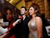 """أنغام تظهر برفقة زوجها خلال الاحتفال بألبومها """"حالة خاصة جدا"""".. فيديو وصور"""