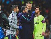 """مان يونايتد ضد برشلونة.. ميسي يستعين بـ""""القناع"""" فى موقعة كامب نو"""