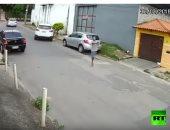 شاهد.. لص بساق واحد يحاول سرقة سيارة تحت تهديد السلاح فى البرازيل