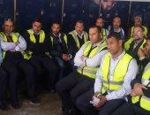 صور.. رئيس مصر للطيران للخدمات الأرضية يلتقى العاملين ويتفقد أعمال التصنيع