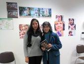 """صور.. ختام فعاليات معرض """"حكايتها"""" للفنانة زينب نور بفرنسا غدًا"""