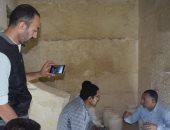 فيديو..العثور على بقايا الزيوت المستخدمة فى التحنيط داخل مقبرة خوى بسقارة