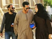 صورة بحبها.. حلا شيحا مع محمد رمضان فى كواليس زلزال: سعيدة بوجودى بالمسلسل