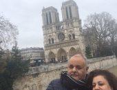 مهندس مصرى يشارك بصور زيارته وأسرته لكاتدرائية نوتردام