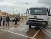 إطلاق أول سيارة مطورة لترشيد استهلاك المياه في غسيل الأرصفة بالإسكندرية