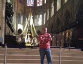 """""""إبراهيم"""" يستعيد ذكرياته من داخل كاتدرائية نوتردام بباريس عام 2013"""