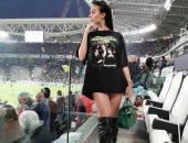 صديقة رونالدو تخطف الأنظار بصورة من مباراة يوفنتوس ضد أياكس
