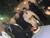 هانى أبو ريدة يحتفل بعيد ميلاد حازم إمام