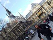 """""""إيهاب"""" يشارك ذكريات زيارته لكاتدرائية نوتردام بباريس عام 2017"""