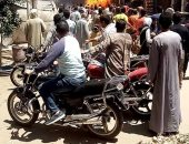 السيطرة على حريق نشب بــ3 محلات بطهطا سوهاج بسبب تسريب لغاز البوتاجاز
