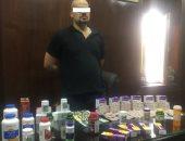 ضبط شخص يبيع أدوية مجهولة عبر الفيس بوك ويضر بصحة المواطنين