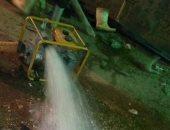 الجيزة لمياه الشرب: إصلاح سدد بعض الوصلات الداخلية وانتظام المياه ببشتيل