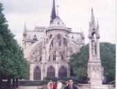 """""""محمد"""" يشارك بصورة لزيارته لكاتدرائية نوتردام بباريس فى إبريل 2009"""
