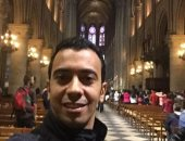 """""""نادى"""" يأخذنا فى جولة من داخل كاتدرائية نوتردام فى رحلته العام الماضى"""