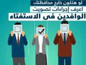 إجراءات تصويت الوافدين في استفتاء التعديلات الدستورية (فيديو جراف)