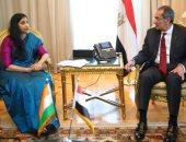 """عمرو طلعت يبحث """"الذكاء الاصطناعى"""" مع نائب وزير الاتصالات الهندى بالقاهرة"""