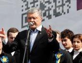 صور.. الرئيس الأوكرانى يحشد مؤيديه قبل مناظرة مرتقبة مع منافسه