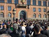 صور.. مظاهرة للجاليات المسلمة بالعاصمة الدانماركية ضد حرق المصحف
