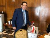 """صورة × الصندوق.. أحد علماء """"مصر تستطيع"""" يشارك باستفتاء الدستور فى الدمام"""