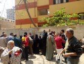 صور.. تزايد إقبال الناخبين للتصويت فى الاستفتاء بلجان عين شمس