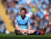 إصابة دى بروين فى مباراة مانشستر سيتى ضد توتنهام