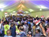 صور.. طوابير المواطنين تزين ماراثون استفتاء الدستور أمام سفارة مصر بالكويت