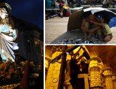 """صور.. """"العالم هذا الصباح"""".. الألاف فى نيكاراجوا يحيون ذكرى عام على احتجاجاتهم ضد الرئيس.. والمهاجرون يتكدسون على الحدود الأمريكية المكسيكية.. وطائفة مسيحية يهودية تحتفل بطقوس دينية فى كولومبيا"""