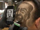 فيديو.. حلاق صينى يبدع برسم صور المشاهير على شعر زبائنه