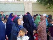"""أهالى قرية """"حدير"""" ببنى سويف يدلون بأصواتهم فى استفتاء التعديلات الدستورية"""