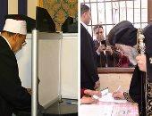 شيخ الأزهر والبابا تواضروس يصوتان على تعديلات الدستور