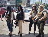 """صور. فتيات عراقيات يتظاهرن بملابس لعبة """"PUBG"""" ضد حظر البرلمان للعبة"""