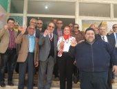 صور.. وفد جامعة مصر للعلوم والتكنولوجيا يشاركون باستفتاء التعديلات الدستورية