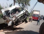 مصرع طفلين وإصابة سائق فى حادث إنقلاب سيارة بسوهاج