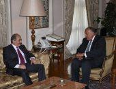 وزير الخارجية يبحث مع رئيس مجلس النواب القبرصى تدعيم التعاون
