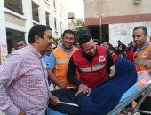 """صور.. """"إسعاف بنى سويف"""" تنقل 10 من دار المسنين لمقار اللجان الانتخابية"""