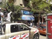 """صور.. المواطنون يحتفلون بالاستفتاء بـ""""العصا الصعيدى"""" فى وسط البلد"""