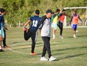 صور.. جمال عمر يقود تدريبات المقاصة