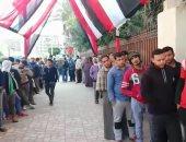 فيديو.. أطول طابور للشباب المشاركين فى الاستفتاء أمام لجان باب الشعرية